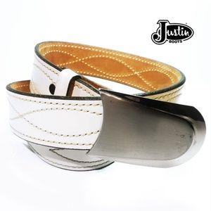Ladies Justin Genuine Leather Cowhide Belt Sz 30